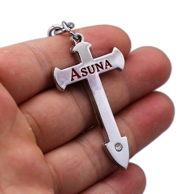 Sword Art Online Asuna Cross Key Holder Pendant Keychain