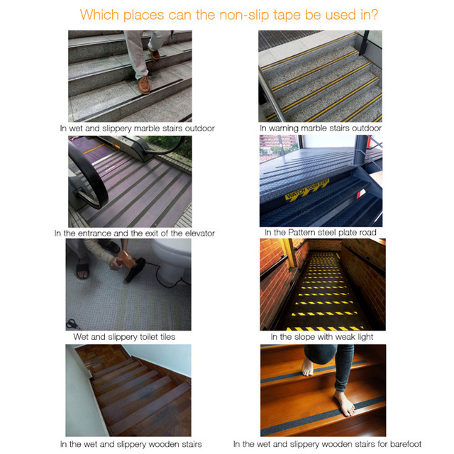 Anti Slip Stairs Tape Stickers For Safety
