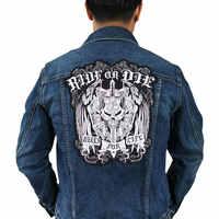 Байкерская нашивка для куртки, Байкерская нашивка в стиле панк, Байкерский значок с вышивкой скелета, аксессуары для одежды с черепом