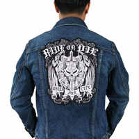 ride or die biker patch for Jacket backing, punk motorcycle embroidery skeleton biker badge, skull patch Garment Accessory