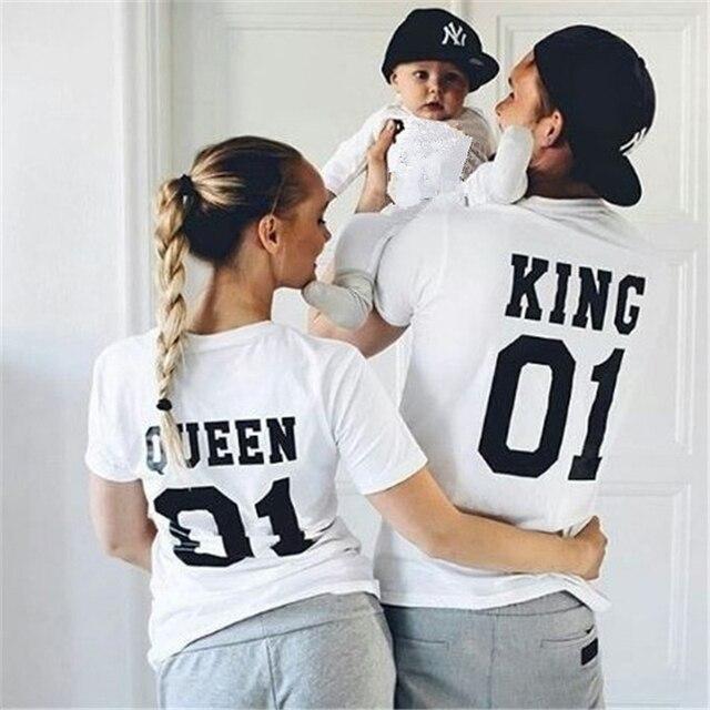 Nueva familia King Queen juego de trajes de algodón juego