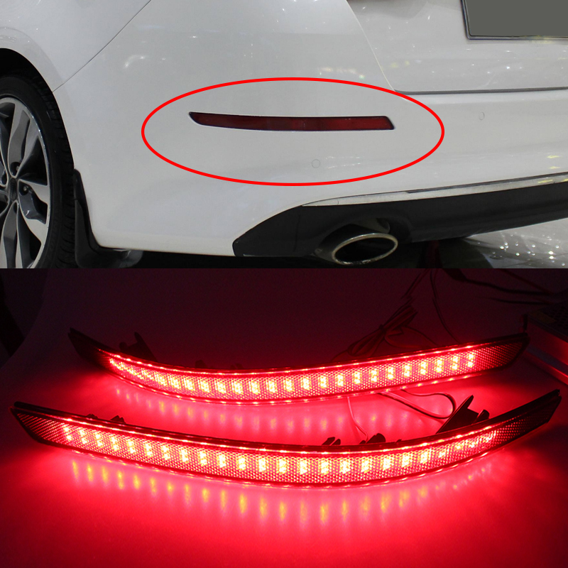 2Pcs/set Rear Bumper Reflector Light For Kia Optima Magentis K5 2011 2012 2013 LED Parking Tail Lights Red warning tail light image
