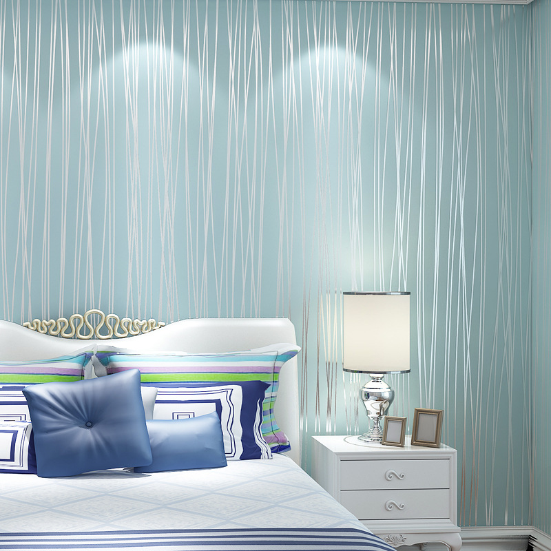Special sale promotion non woven wallpaper bedroom simple for Wallpaper home improvement questions