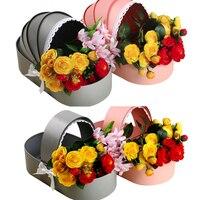 Criativo Berço Individual Caixa de Flores Caixa de Presente Embalagem de Alta-grade Florista Embalagem Caixa de Presente 33x18x7.7 CENTÍMETROS da Fonte Do Partido