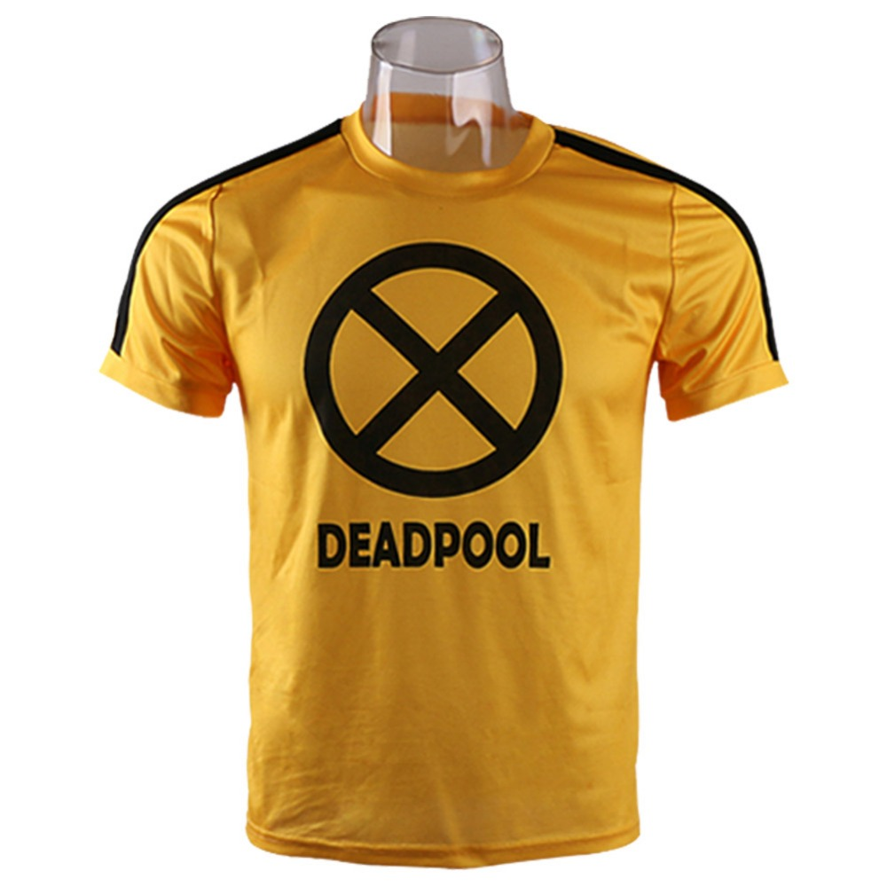 Deadpool 2 T Shirt Cosplay Costumes Yellow Wade Wilson Merc With A Mouth T-Shirt