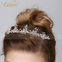 Darmowa Wysyłka Koraliki Style Komunia Pałąk Kwiat Dziewczyna Hairband Stroiki Ślubne Welon
