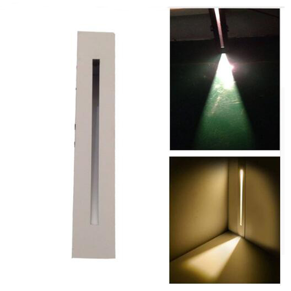 BECOSTAR Metal Black white 85 265v 3w Recessed Led Stair In Step Lamps