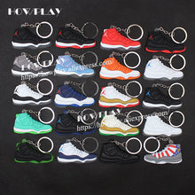 best service 46f53 21722 Mini sneakers air jordan 11 keychains bag charm basketball shoe model  keyring backpack pendant key Holder