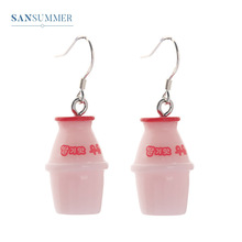 Sansummer New Hot Fashion Exquisite cute bottle girl personality Japan And Korea Style Exaggeration earrings For women jewelry