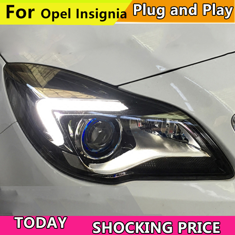 Car Styling For Buick New Regal headlights GS Style Opel Insignia head lamp led DRL front light Bi-Xenon Lens xenon HID KIT 2014 car styling for cadillac ats headlights for ats led head lamp led front light bi xenon lens xenon hid