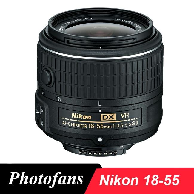 Prix pour Nikon 18-55 objectif Nikkor AF-S DX 18-55mm f/3.5-5.6G VR II Lentilles pour Nikon D3100 D3200 D3300 D3400 D5100 D5200 D5300 D5500 D40