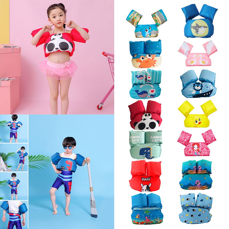 Outdoor Kid Swimming Life Vest Toddler Float Swimming Ring Swimming Circle Pool Accessories Infant Kid Life Jacket Buoyancy Vest