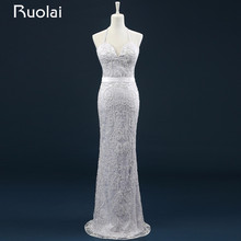 Real Photo New Style Halter Removable Mermaid Beaded Bodice Wedding Dress for Bridal Gown Vestido de Noiva ASAFN37