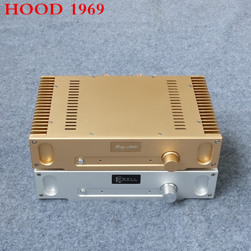 HOOD 1969 PNP 2.0 Channel Class A Amplifier Audio Amplifiers Main Power Tube 2N2955*4 2N395592 Gold seal Amplificador Amp 6KG