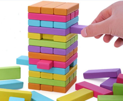 Candice guo wooden toy wood block colorful tower domino stacker extract jenga game kid birthday gift christmas present 54pcs/set candice guo wooden toy wood block duck pull cart board cannula pillar vehicle shape macth game birthday gift christmas present