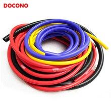 5 м синий черный красный желтый 3 мм/4 мм/6 мм/8 мм авто автомобильный вакуумный силиконовый шланг гоночная линия труба автомобильный-Стайлинг