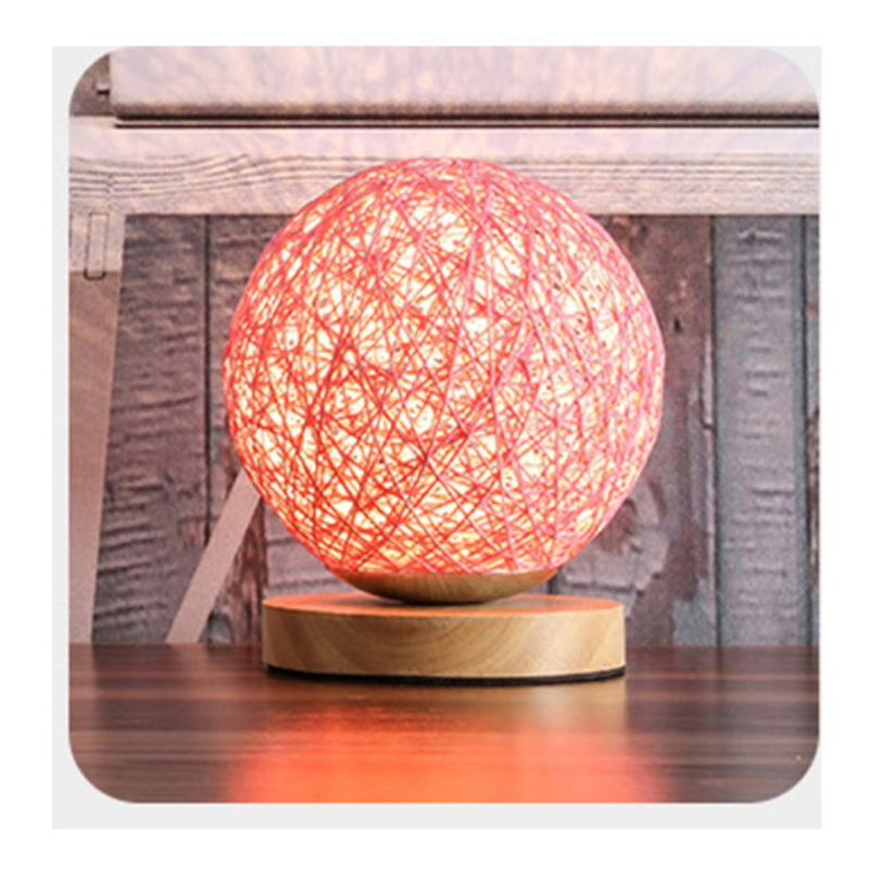 Dropship 3D LED Home Decorative Lamp Rattan Moon Night Light Moonlight Table Desk Moon Lamp Bedside Indoor Lamp Rattan Ball
