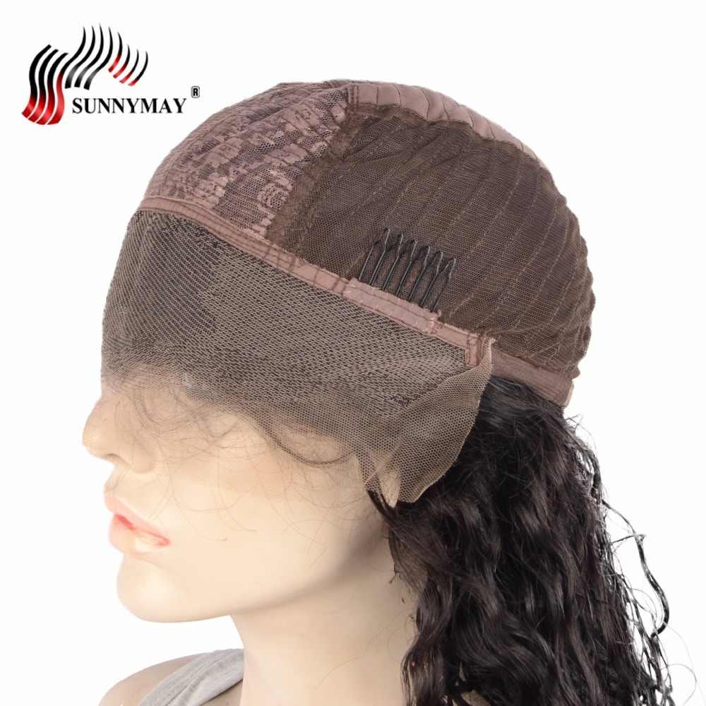 Sunnymay кружевные передние человеческие волосы парики испанская волна Бразильские девственные человеческие волосы Передние кружевные парики с детскими волосами предварительно выщипанные