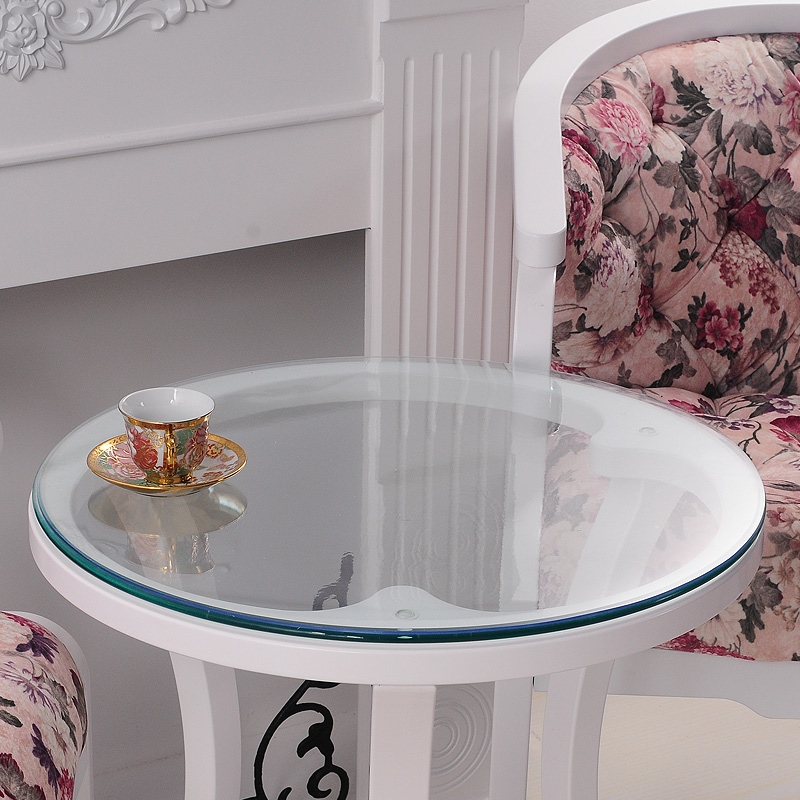 Soft Glass Transparency PVC Round Tablecloth Waterproof Party Home Kitchen Dining Room Placemat Pad Thickness 1
