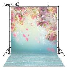NeoBack klasyczne winylu wiosenna, w kwiatki płatki zdjęcie dzieci tła noworodki Baby Shower portret studyjny fotografia tła