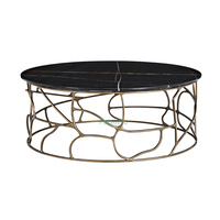 Round marble coffee table American antique paint