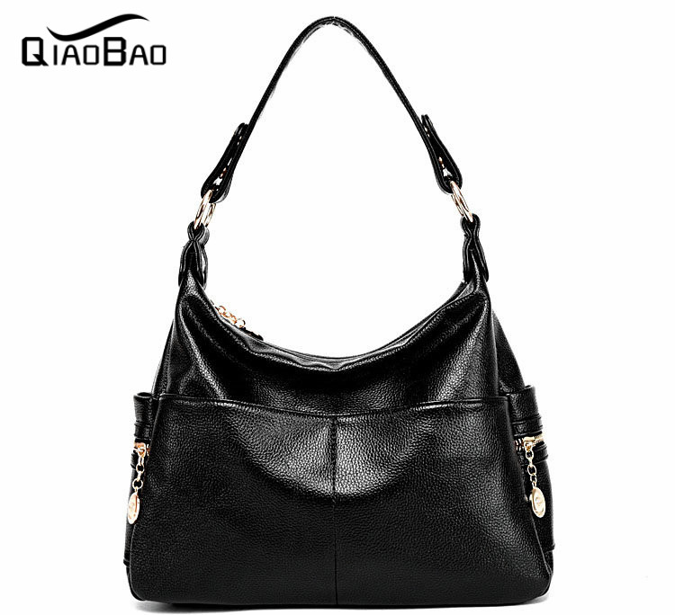 QIAOBAO Women Bag 2017 Cowhide Handbag Femme Handbags Messenger Bags Bolsas Leather Bolsa New Feminina Fashion Sweet Shoulder