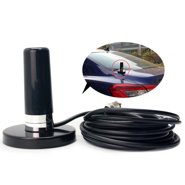 Walkie Talkie Car Radio Dual Band VHF UHF Antenna PL259 5M Coaxial Cable Magnetic Mount Base and SMA-F SMA-M BNC Connector 5