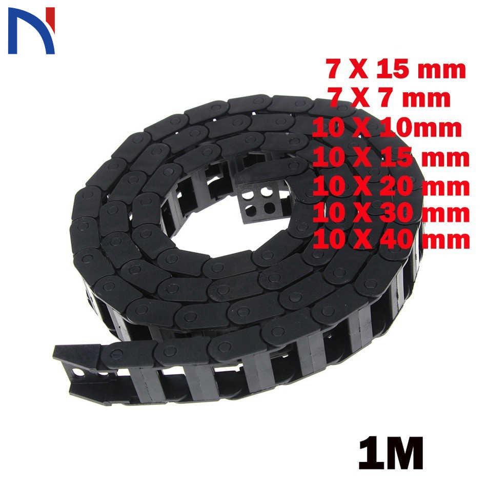 7x15mm 7*15mm 7X7 10X20 30 40mm L1000mm Kabel Slepen keten Wire Carrier met End Connectoren voor CNC Router Machine Tools
