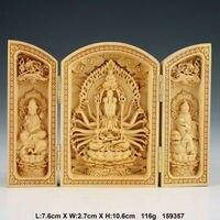 Oriental Vintage Boxwood Handwork Carved Buddha Statue NAA051 wooden crafts