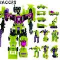 Cool Anime 24 CM Tamanho Grande Engenharia Brinquedos 6 em 1 Caminhão Carro Deformação Robô Modelo figura de Ação Brinquedos para Meninos presente