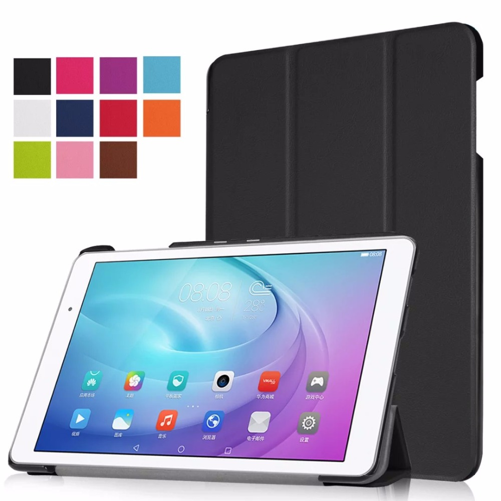 Magnetic Stand Smart PU Leather Book Cover for Huawei T2 Pro 10.1 Funda Case for Huawei MediaPad T2 10.0 Pro Tablet+Free Pen image