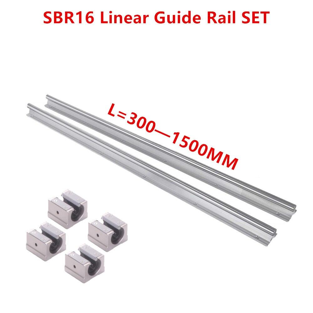 SBR16 Linear Guide Rail L300-1500mm With SBR16UU Block Bearing