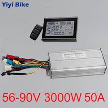 KT 56 V-90 V 3000 W 50A Elektrikli bisiklet dönüşüm kiti kunteng LCD3 Ekran DC Fırçasız Denetleyici Sinüs için Elektrikli Scooter