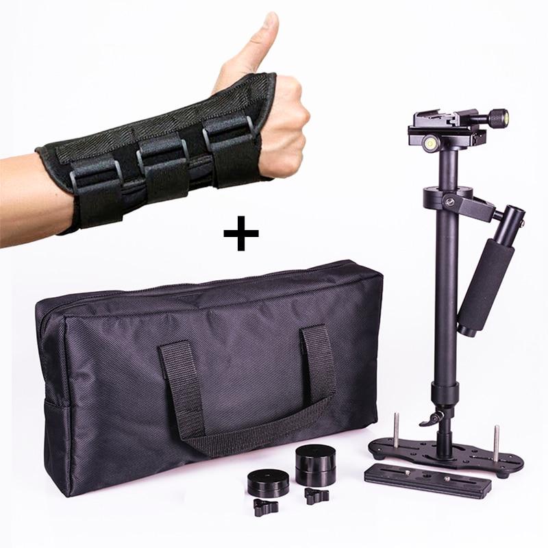 Steadicam S60 de poche caméra stabilisateur vidéo steady cam DSLR steadycam estabilizador caméras avec attelle à la main pour Canon Nikon