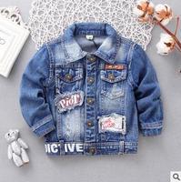 Children S Jacket Denim Boys Hooded Jean Jackets Girls Kids Clothing Baby Coat Casual Outerwear 2015
