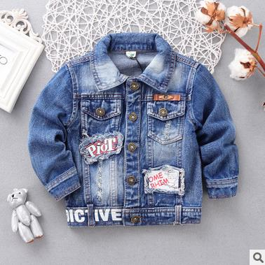 Children s Jacket Denim Boys Hooded Jean Jackets Girls Kids clothing baby coat Casual outerwear 2015