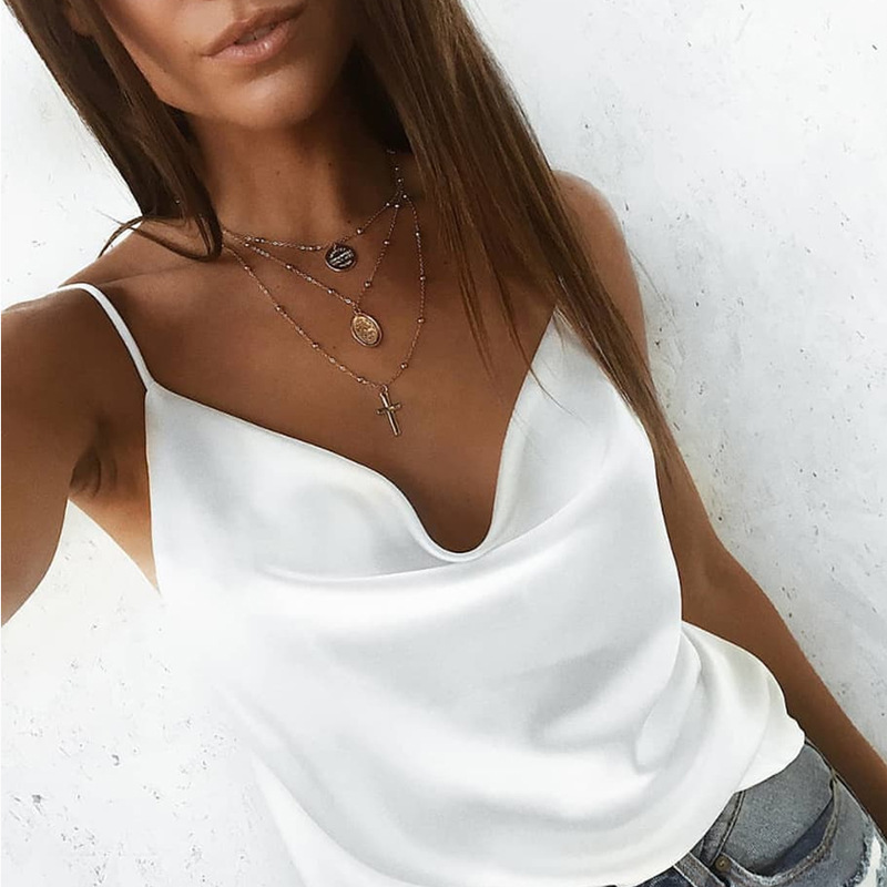 New Fashion <font><b>Sexy</b></font> Camisoles Women Solid Lace CamiS Summer tops <font><b>d</b></font>é<font><b>bardeur</b></font> <font><b>femme</b></font> Casual Party Vest Sleeveless Camis Plus size image
