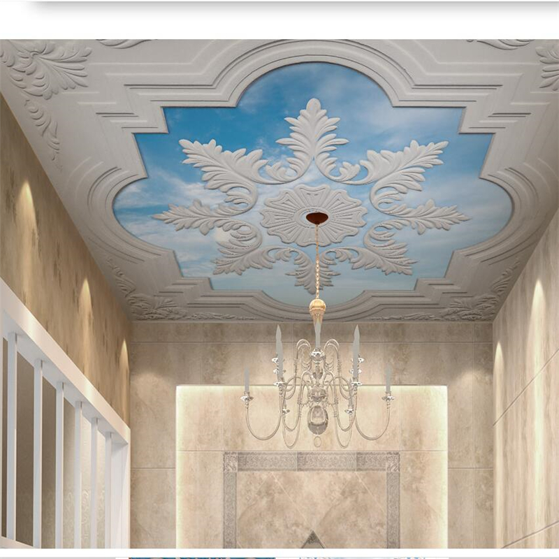 Beibehang Custom Large Wallpapers 3d European Gypsum Line