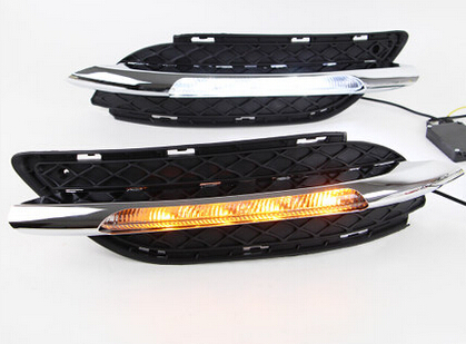 LED DRL daytime running light for Mercedes Benz W246 B class B180 B200 2011-14, with yellow turn signals function, super bright car floor mats special made for mercedes benz w246 b class 160 180 200 220 b160 b180 b200 car styling case rugs liners 2012