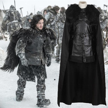 2017 American TV Series Game of Thrones Cosplay Costume Jon Snow Cosplay Knight Role Play Costume Halloween with Gloves