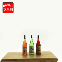 3pcs lot 1 12 Kitchen Drink Wine Bottles Dollhouse Miniature Furniture Multicolor Dollhouse Accessories Wine Bottle