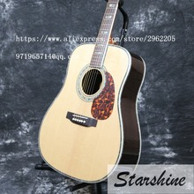 Instock high quality 2016 Starshine SR-RS-45A 41 acoustic guitar Grover Tuner solid top fishman EQ gold hardware