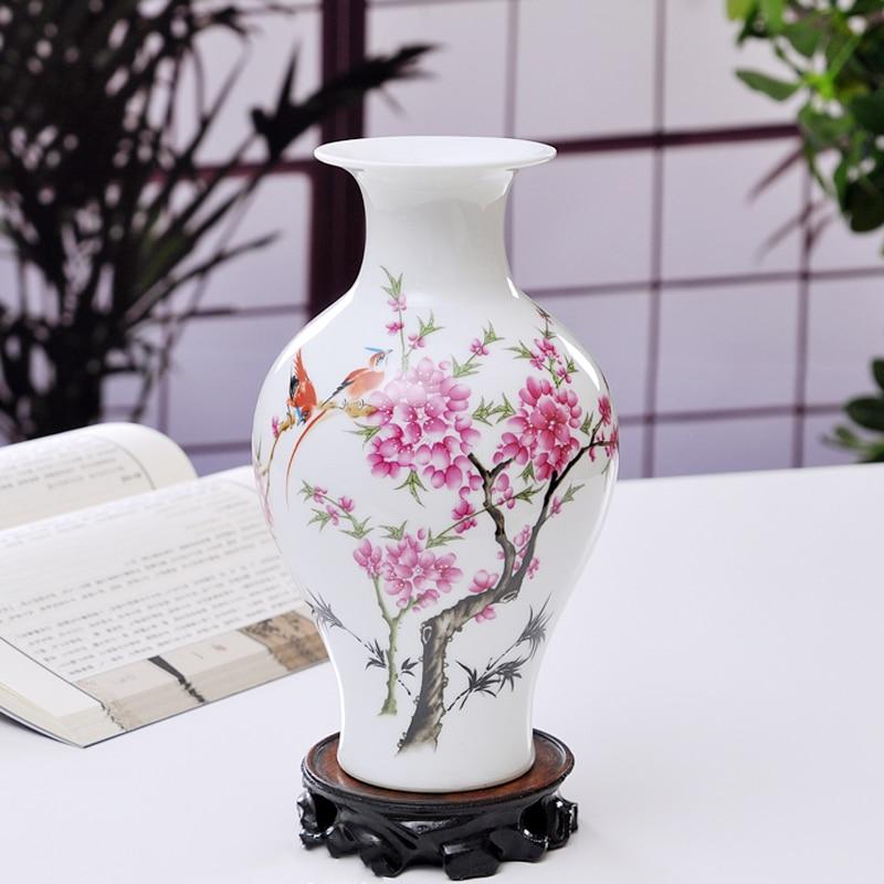 Keybox ceramic vase home decoration peach flower porcelain for Article decoration