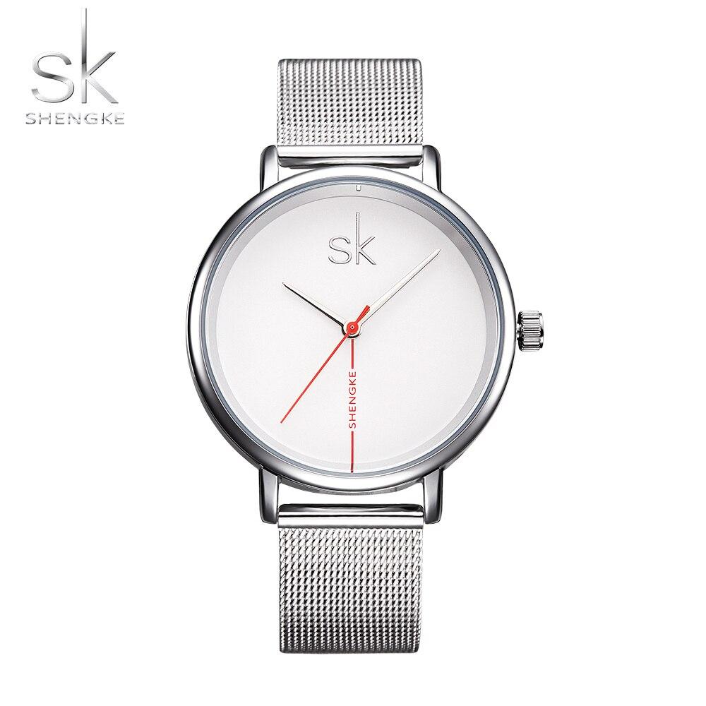 Shengke Relogio Feminino Women Watches Montre Femme Marque De Luxe Mesh Tiny Point Wristwatch Quartz Lady Watch Reloj Mujer