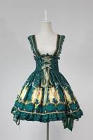 Sweet Lolita Dresses X'mas Deer JSK Halloween snow Japanese style Uniforms Dresses bells Lolita Alice Costume