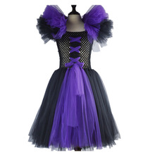 Fashion halloween costume for kids baby birthday tutu dresses for girls fancy dress for children princess