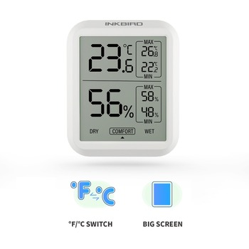 Inkbird High Accuracy ITH-20 Digital Hygrometer Thermometer Indoor Electronic Temperature Humidity Hygrometer Weather Station цена 2017