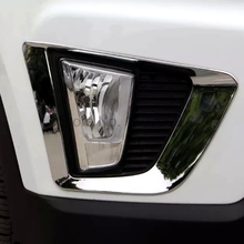 For Hyundai Creta IX25 2014 2015 2016 2pcs Chrome Car Exterior Front Foglight Lamp Shade Molding Trim Protectors Accessories