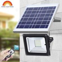 XINREE 100 светодиодный 50 W солнечное освещение для улицы и дистанционное Управление прожектор На Солнечных Батареях Садовые гараж настенный светильник Водонепроницаемый IP65 SMD5730 свет