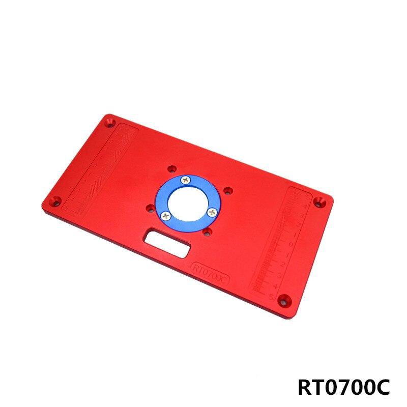 RT700C di Alluminio Tabella di Router Piastra di Inserimento con 2 Pcs Anello Inserto per la Lavorazione Del Legno Banco di Strumenti di Legno Tabella di RouterRT700C di Alluminio Tabella di Router Piastra di Inserimento con 2 Pcs Anello Inserto per la Lavorazione Del Legno Banco di Strumenti di Legno Tabella di Router